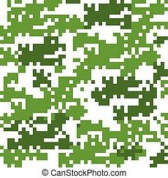 カモフラージュ, 抽象的, ベクトル, デジタル, バックグラウンド。, seamless, pattern., ...