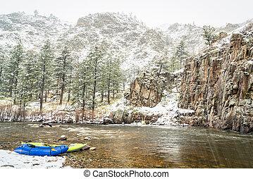 カヤック, 吹雪, packraft, whitewater, 膨らませることができる