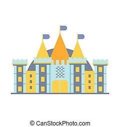 カラフルである, イラスト, 物語, ベクトル, 城, 妖精