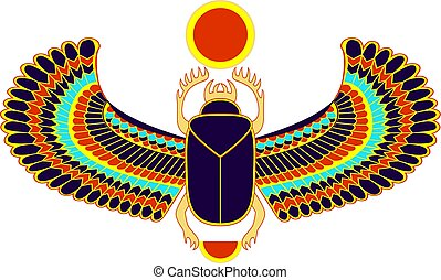 カラフルである, エジプト人, シンボル, オオタマオシコガネ, sun., 神聖, 虫