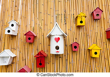 カラフルである, コレクション, birdhouses