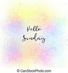 カラフルである, スプレーペンキ, 日曜日, 背景, こんにちは