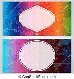 カラフルである, スペース, ベクトル, コピー, template., カード