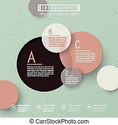 カラフルである, テンプレート, infographic, デザイン