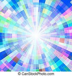 カラフルである, トンネル, 抽象的, ベクトル, 背景, 円, 照ること