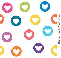 カラフルである, パターン, 壁紙, seamless, circles., 心