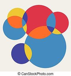 カラフルである, パターン, 抽象的, バックグラウンド。, 新たに, 円