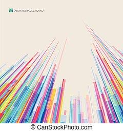カラフルである, パターン, 抽象的, ライン, バックグラウンド。, タワー