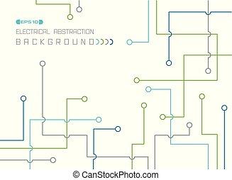 カラフルである, パターン, 抽象的, ライン, バックグラウンド。, 電気である