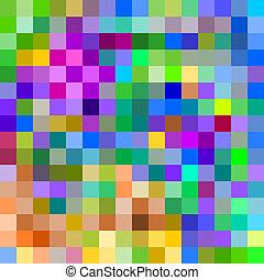 カラフルである, パターン, 抽象的, 大きい, 背景, ピクセル