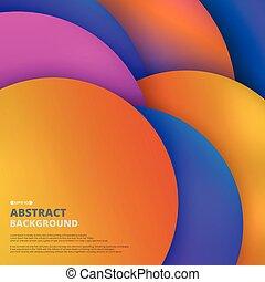 カラフルである, パターン, 抽象的, 液体, バックグラウンド。, 円, 幾何学的