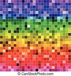 カラフルである, パターン, 抽象的, seamless, 背景, デジタル, ピクセル