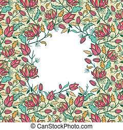 カラフルである, パターン, 葉, seamless, 花, ボーダー, フレーム