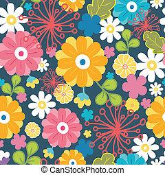 カラフルである, パターン, seamless, 東洋人, 背景, 花
