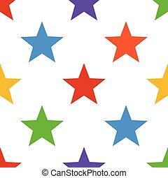 カラフルである, ベクトル, 星, seamless, 背景