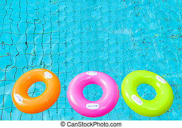 カラフルである, リング, 3, 水, プール, 水泳