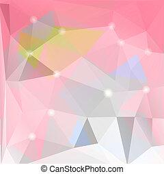カラフルである, 三角形, モザイク, 背景