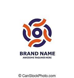 カラフルである, 創造的, 統一, グループ, 円, ロゴ