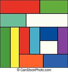 カラフルである, 単純である, 抽象的, editable, ベクトル, 背景, 長方形