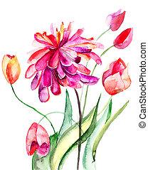 カラフルである, 夏, 背景, ∥で∥, flowers.