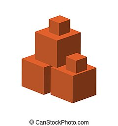 カラフルである, 大きい, 産業, 形, モデル, 正方形