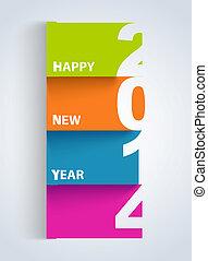 カラフルである, 年, 数, タグ, 新しい, 2014, 幸せ