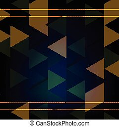 カラフルである, 幾何学的, 背景, texture., ベクトル, 三角形, ジーンズ
