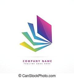 カラフルである, 抽象的な形, デザイン, テンプレート, ロゴ