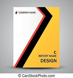 カラフルである, 抽象的, カバー, 形, デザイン, テンプレート