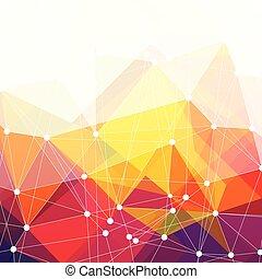 カラフルである, 抽象的, ベクトル, 背景, デザイン, 三角形