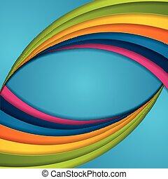 カラフルである, 抽象的, ベクトル, 背景, 波, 企業である