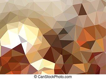 カラフルである, 抽象的, 三角, 背景, 幾何学的, 多角形