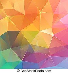 カラフルである, 抽象的, 氷, ベクトル, 背景, 三角形