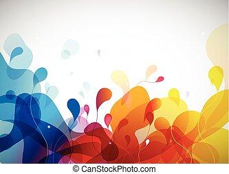 カラフルである, 抽象的, 背景, ∥で∥, flowers.