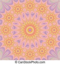 カラフルである, 星, mandala, フラクタル, 背景
