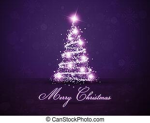 カラフルである, 木, 白熱, クリスマス, 紫色