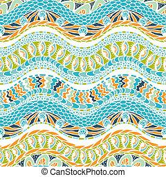 カラフルである, 民族性, 装飾, ベクトル, seamless, pattern.