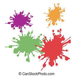 カラフルである, 水彩画, 抽象的
