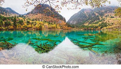 カラフルである, 池, jiuzhaigou