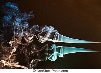 カラフルである, 煙, カーブ
