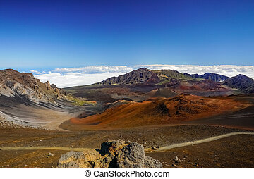 カラフルである, 砂漠, 国民, ハワイ, haleakala, 公園, maui, 風景