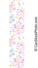 カラフルである, 縦, パターン, 抽象的, seamless, 織物, 背景, 花, ボーダー
