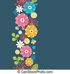 カラフルである, 縦, パターン, seamless, 東洋人, 花, ボーダー