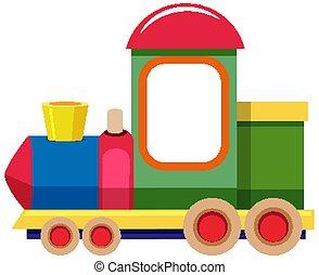 カラフルである, 背景, 白, 列車, おもちゃ