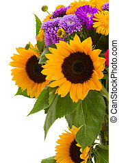 カラフルである, 花束, の, 秋, 花
