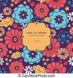 カラフルである, 花束, パターン, フレーム, seamless, 背景, 花