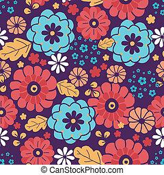 カラフルである, 花束, パターン, seamless, 背景, 花