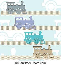カラフルである, 蒸気, locomotives.