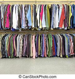 カラフルである, 衣服, 中に, a, 2番目の手, 店