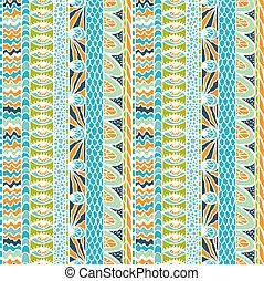 カラフルである, 装飾, pattern., seamless, ベクトル, 民族性